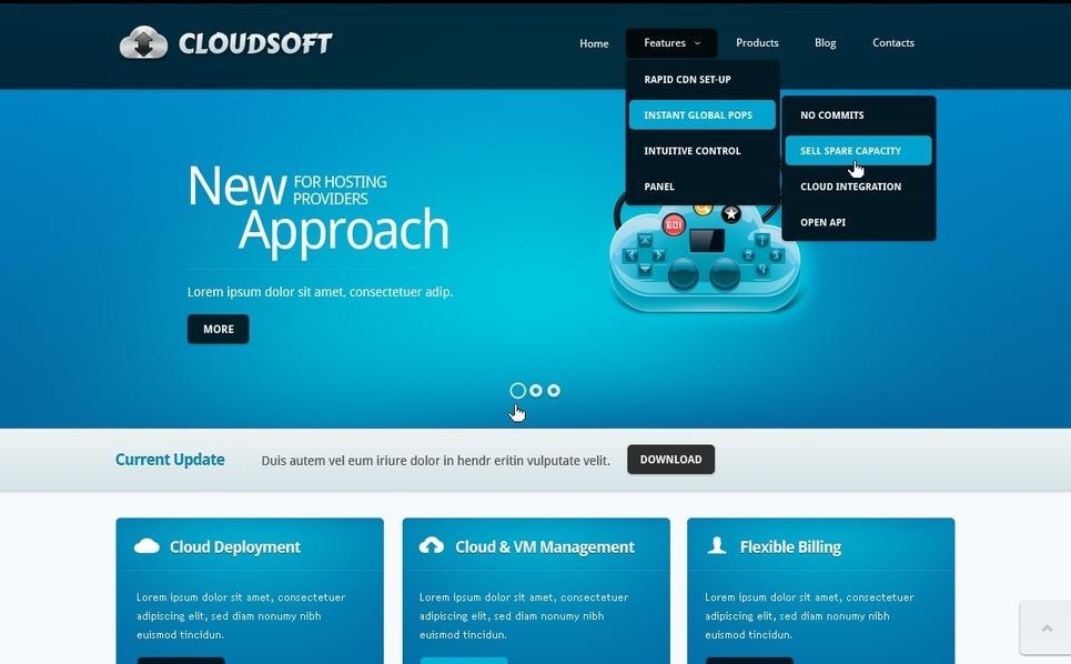 Szoftverfejlesztő cégek  Drupal sablon New Screenshots BIG