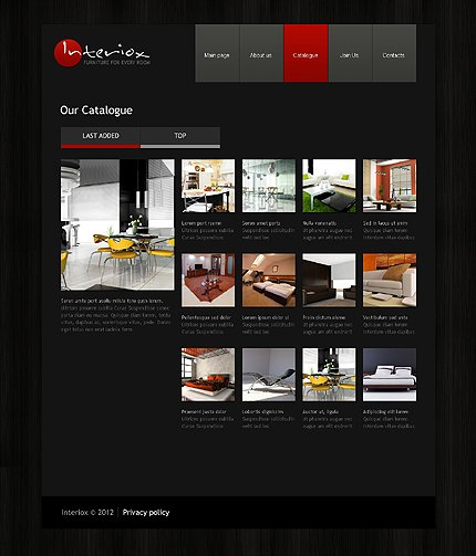 Template 39726 ( Catalogue Page ) ADOBE Photoshop Screenshot