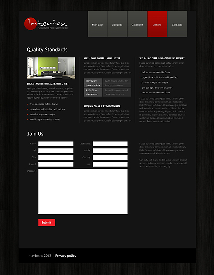 Template 39726 ( Join Us Page ) ADOBE Photoshop Screenshot
