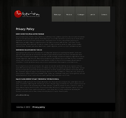 Template 39726 ( Privacy Policy Page ) ADOBE Photoshop Screenshot