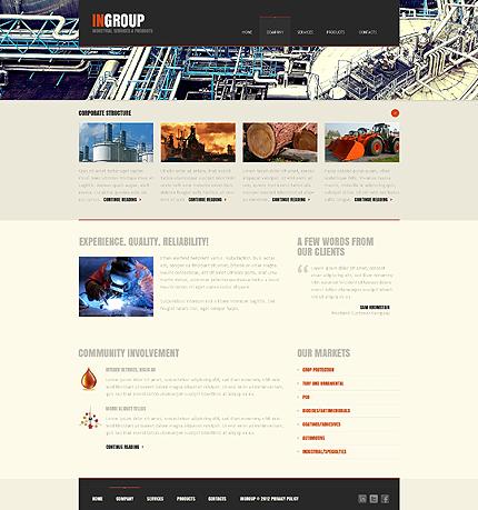 Template 39728 ( Company Page ) ADOBE Photoshop Screenshot