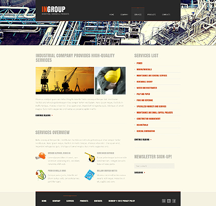 Template 39728 ( Services Page ) ADOBE Photoshop Screenshot