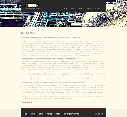 Template 39728 ( Privacy Policy Page ) ADOBE Photoshop Screenshot
