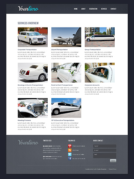 Template 39731 ( Rates Page ) ADOBE Photoshop Screenshot