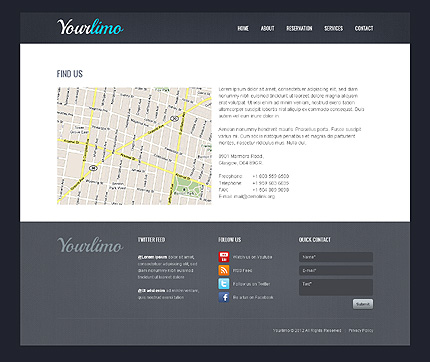 Template 39731 ( Services Page ) ADOBE Photoshop Screenshot
