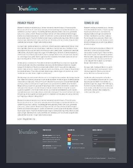 Template 39731 ( Contact Page ) ADOBE Photoshop Screenshot
