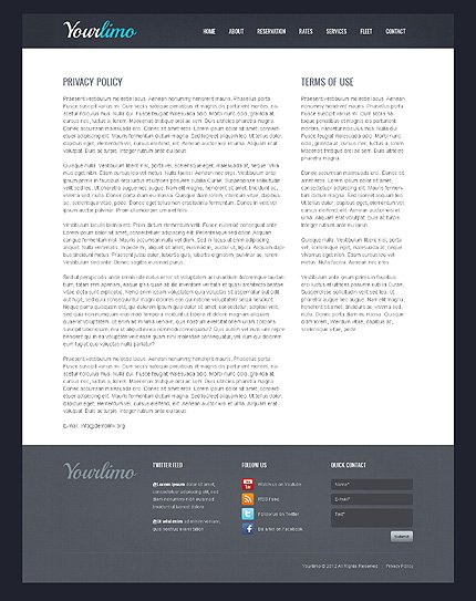 Template 39731 ( Privacy Policy Page ) ADOBE Photoshop Screenshot