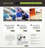 Science Website  Template 39733