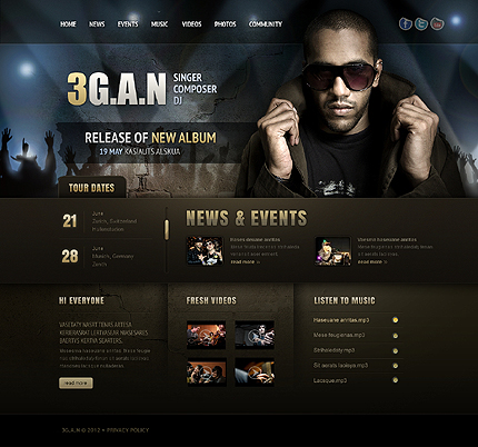 Music Website Template | Website Templates