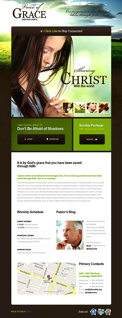 ADOBE Photoshop Template 39759 Home Page Screenshot