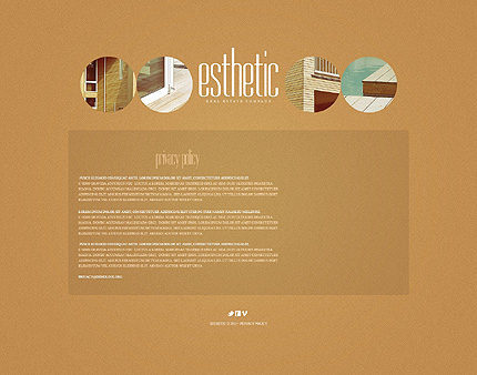 Template 39761 ( Privacy Policy Page ) ADOBE Photoshop Screenshot
