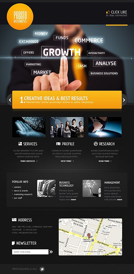 ADOBE Photoshop Template 39778 Home Page Screenshot