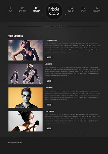 Template 39783 ( Services Page ) ADOBE Photoshop Screenshot