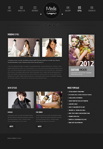Template 39783 ( Style Page ) ADOBE Photoshop Screenshot