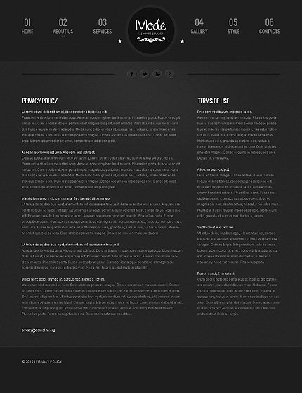 Template 39783 ( Privacy Policy Page ) ADOBE Photoshop Screenshot