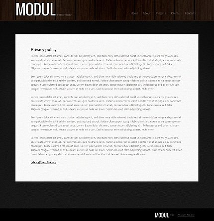 Template 39785 ( Privacy Policy Page ) ADOBE Photoshop Screenshot