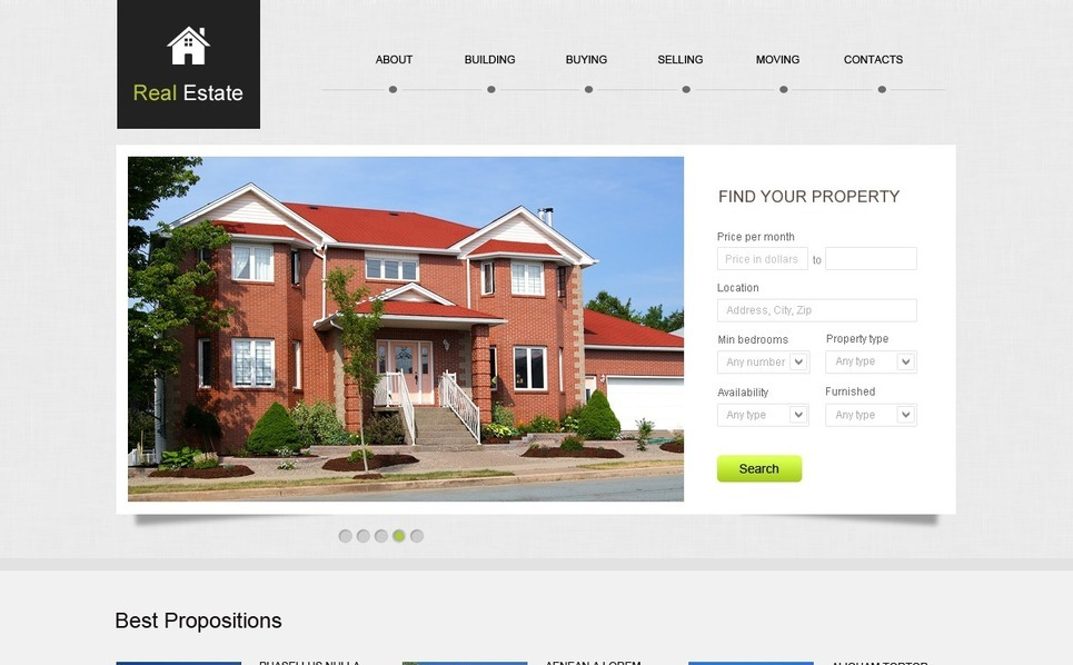 Modello Siti Web  #39794 per Un Sito di Beni Immobiliari New Screenshots BIG