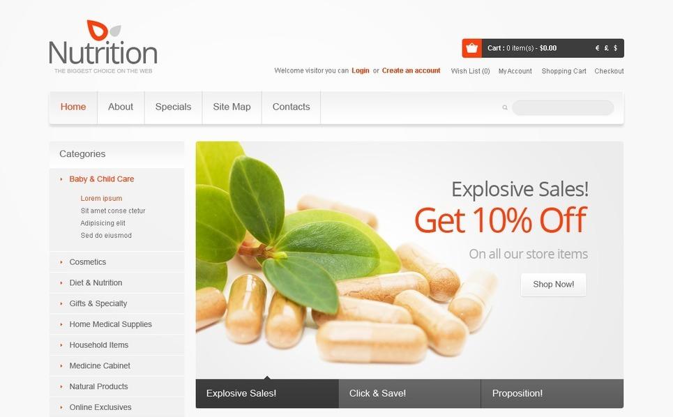 Template OpenCart  para Sites de Farmácia №39798 New Screenshots BIG