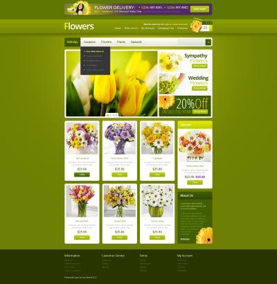 opencart flower templates