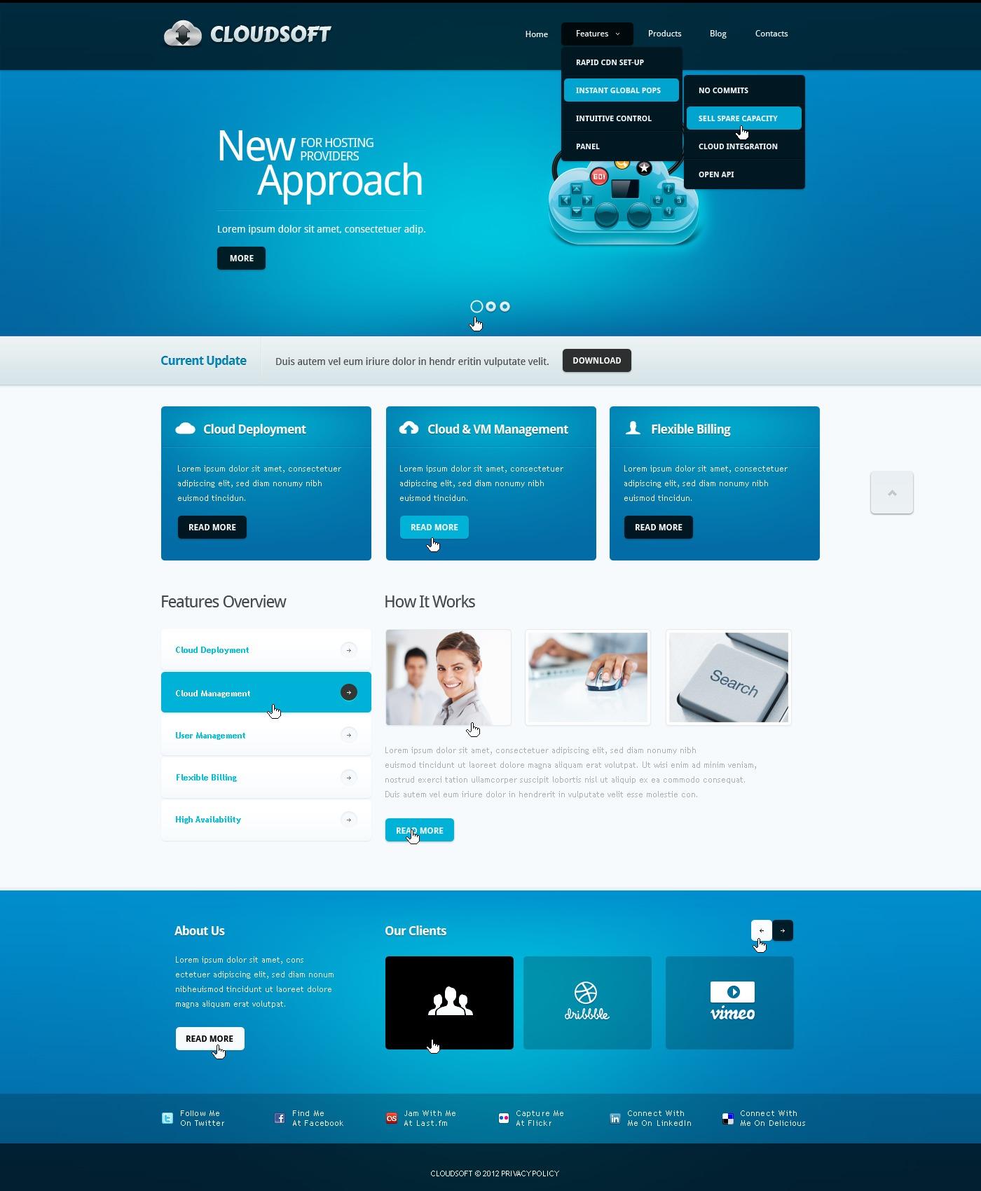 Template Drupal para Sites de Empresa de Software №39724 - captura de tela