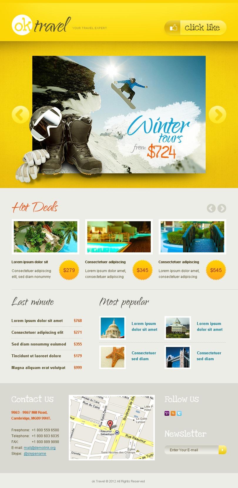 Template para Facebook para Sites de Agencia de Viagens №39777 - captura de tela
