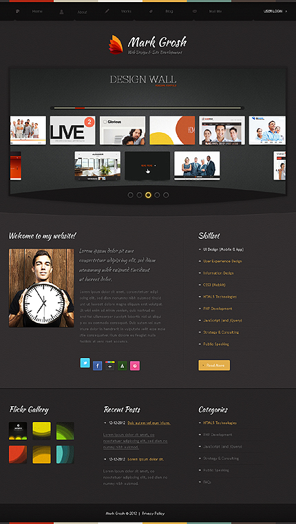 Joomla Theme/Template 39807 Main Page Screenshot