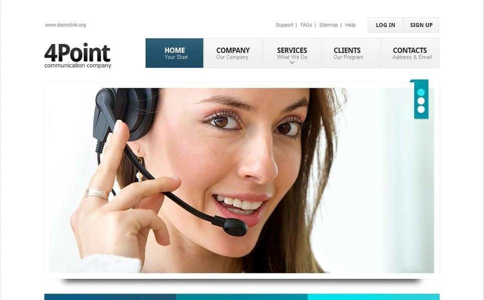 Reszponzív Hívóközpontok Weboldal sablon New Screenshots BIG