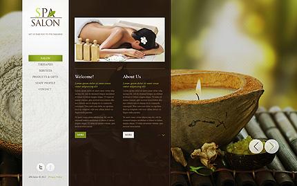 Template 39838 ( Salon Page ) ADOBE Photoshop Screenshot