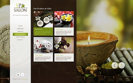 Template 39838 ( Products & Gifts Page ) ADOBE Photoshop Screenshot