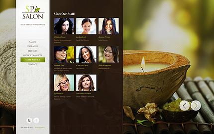 Template 39838 ( Staff Profile Page ) ADOBE Photoshop Screenshot