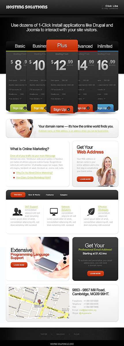 ADOBE Photoshop Template 39840 Home Page Screenshot