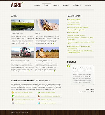 Template 39866 ( Services Page ) ADOBE Photoshop Screenshot