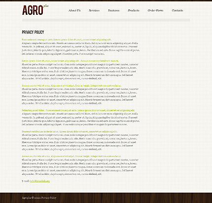 Template 39866 ( Privacy Policy Page ) ADOBE Photoshop Screenshot