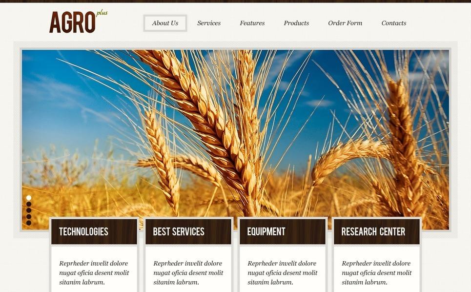 Szablon Strona Www #39866 na temat: rolnictwo New Screenshots BIG
