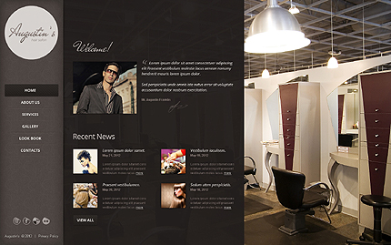 Template 39868 ( Home Page ) ADOBE Photoshop Screenshot