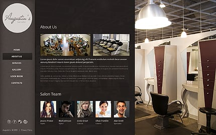 Template 39868 ( About Us Page ) ADOBE Photoshop Screenshot