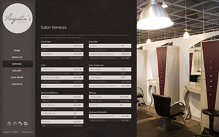 Template 39868 ( Services Page ) ADOBE Photoshop Screenshot