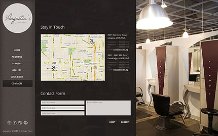Template 39868 ( Contacts Page ) ADOBE Photoshop Screenshot