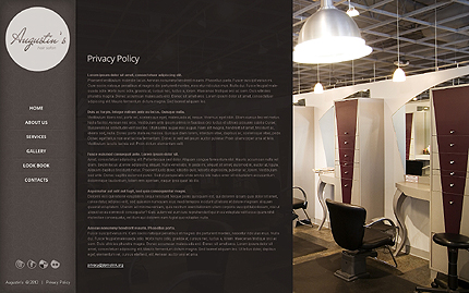 Template 39868 ( Privacy Policy Page ) ADOBE Photoshop Screenshot