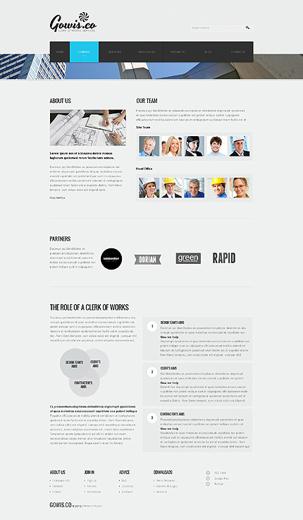 Template 39875 ( Company Page ) ADOBE Photoshop Screenshot