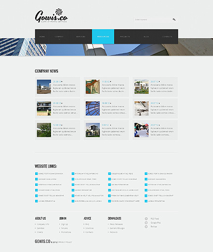 Template 39875 ( Resources Page ) ADOBE Photoshop Screenshot