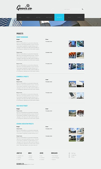 Template 39875 ( Projects Page ) ADOBE Photoshop Screenshot