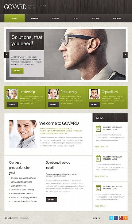 ADOBE Photoshop Template 39878 Home Page Screenshot
