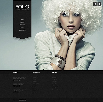 ADOBE Photoshop Template 39879 Home Page Screenshot