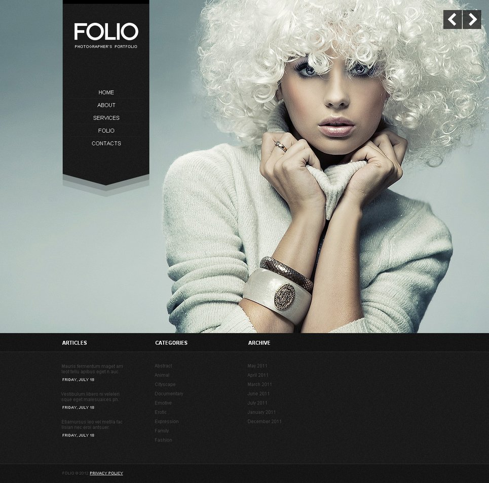 Portfolio Template with Stylish Black Pages and Background Slideshow - image
