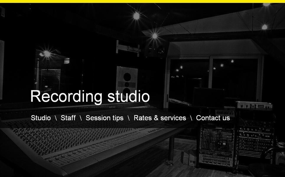 MotoCMS HTML шаблон №39880 на тему звукозаписывающая студия New Screenshots BIG