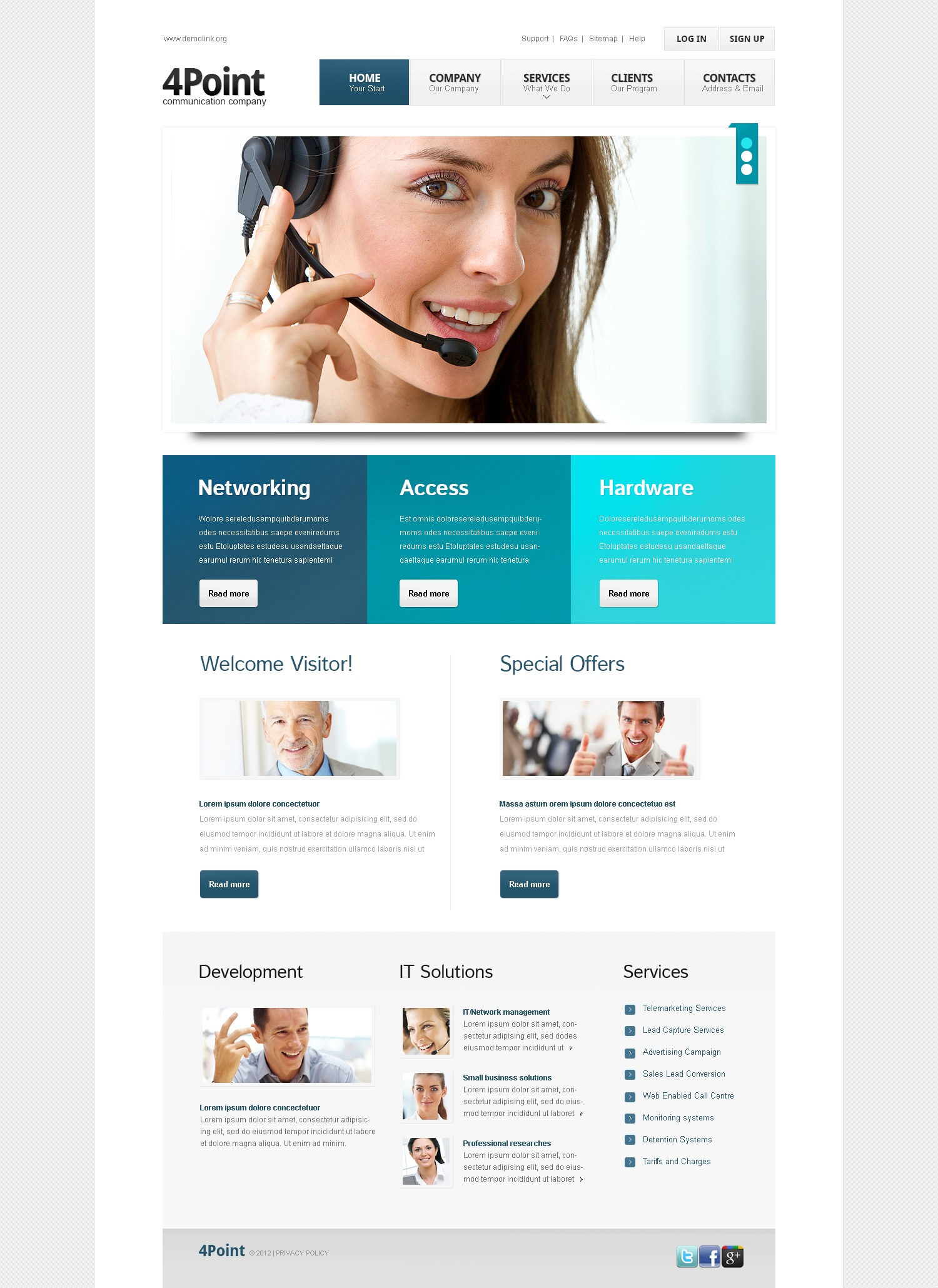 Call Center Website Templates