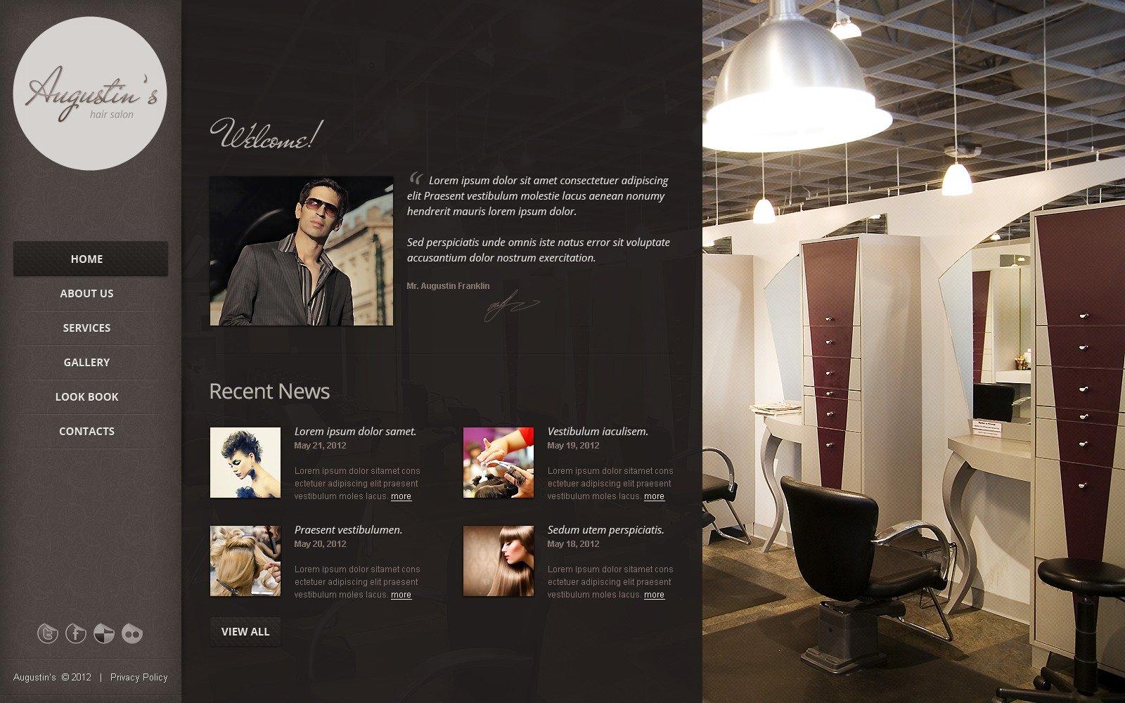 Mod le web 39868 pour salon de coiffure for Salon de coiffure original