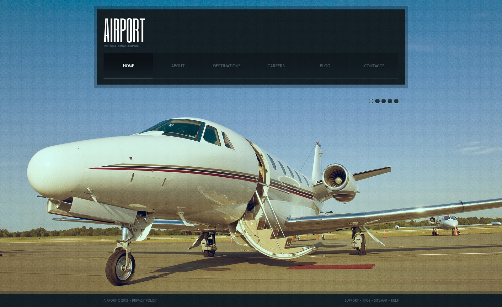 Private Airline Joomla Template 39806