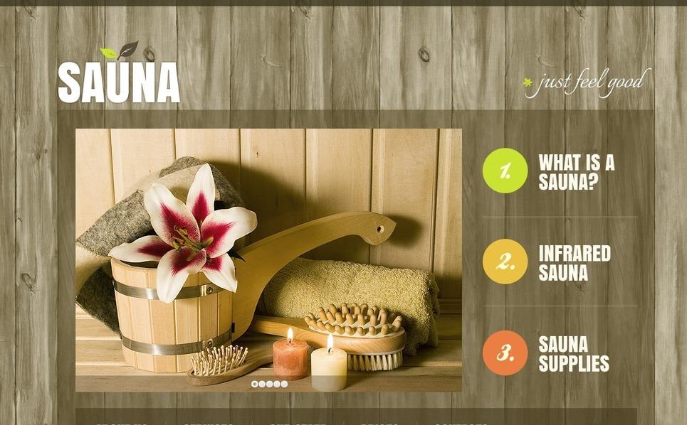Modello Siti Web  #39905 per Un Sito di Sauna New Screenshots BIG